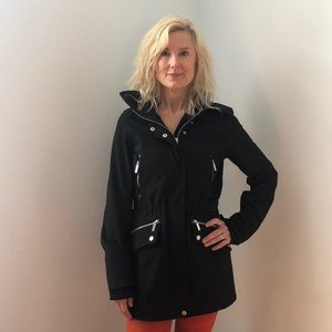 French Connection Black Trench Coat